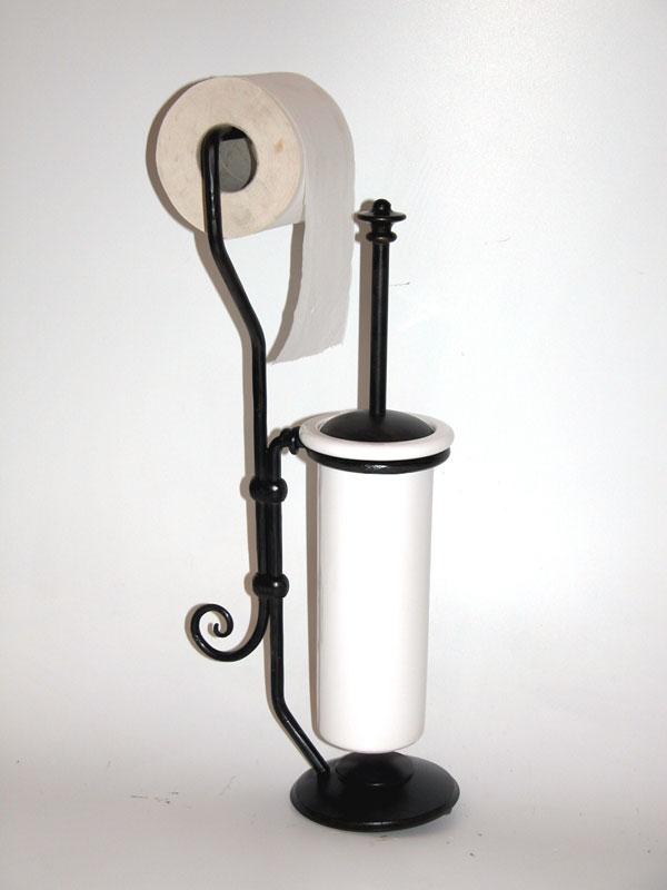 Fabbro zino ferro battuto artistico porta scopino e - Mobile bagno ferro battuto ...
